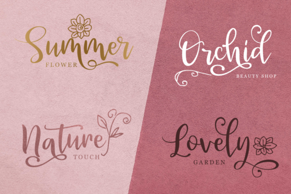 Print on Demand: Velvet Line Script & Handwritten Font By Pasha Larin - Image 4