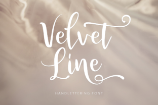 Print on Demand: Velvet Line Script & Handwritten Font By Pasha Larin