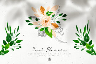 Vert Watercolor Flowers Graphic By webvilla