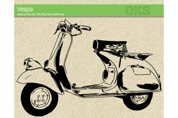 Download Free Vespa Graphic By Crafteroks Creative Fabrica for Cricut Explore, Silhouette and other cutting machines.