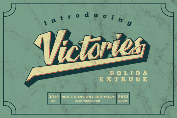 Print on Demand: Victories Display Font By Letter A