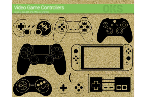 Print on Demand: Video Game Controller Svg Vector Gráfico Crafts Por CrafterOks