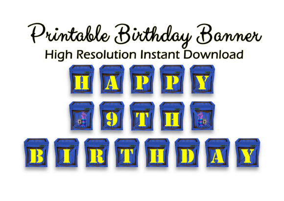 picture relating to Printable Happy Birthday Banner called Movie Activity Joyful Birthday Banner