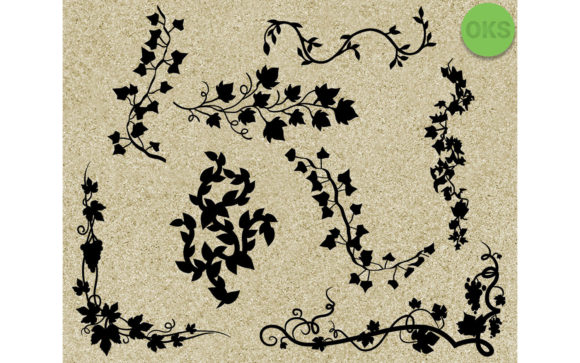 Print on Demand: Vines Bundle Vector Graphic Crafts By CrafterOks