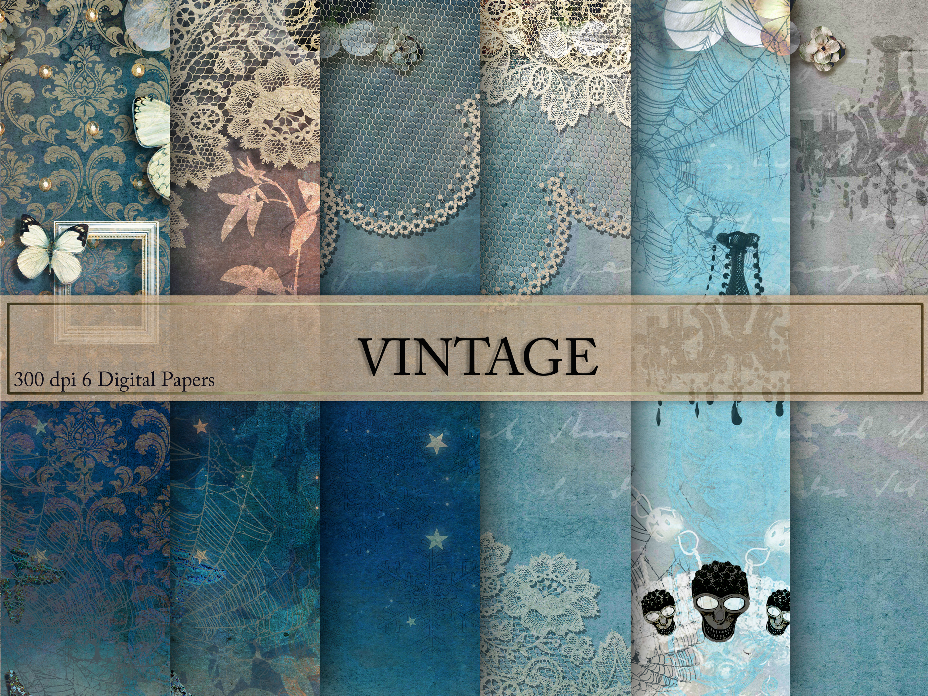 Download Free Vintage Digital Paper Graphic By Creative Paper Creative Fabrica for Cricut Explore, Silhouette and other cutting machines.