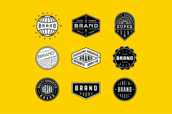 Vintage Logo and Badge Bundle 2 Graphic By Sons Of Baidlowi Image 1