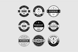 Vintage Logo and Badges Bundle Graphic By Sons Of Baidlowi