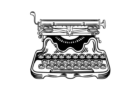 Download Free Vintage Typewriter Svg Cut File By Creative Fabrica Crafts for Cricut Explore, Silhouette and other cutting machines.