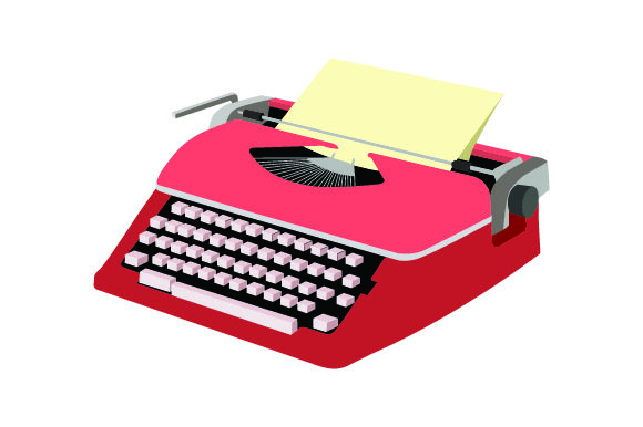 Vintage Typewriter Clipart Images In Color Svg Cut File By