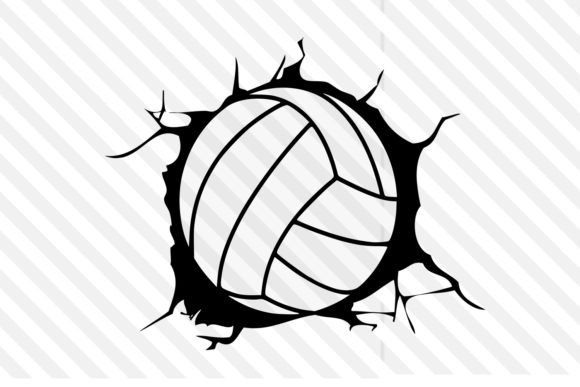 Volleyball Design Vector Logo Graphic