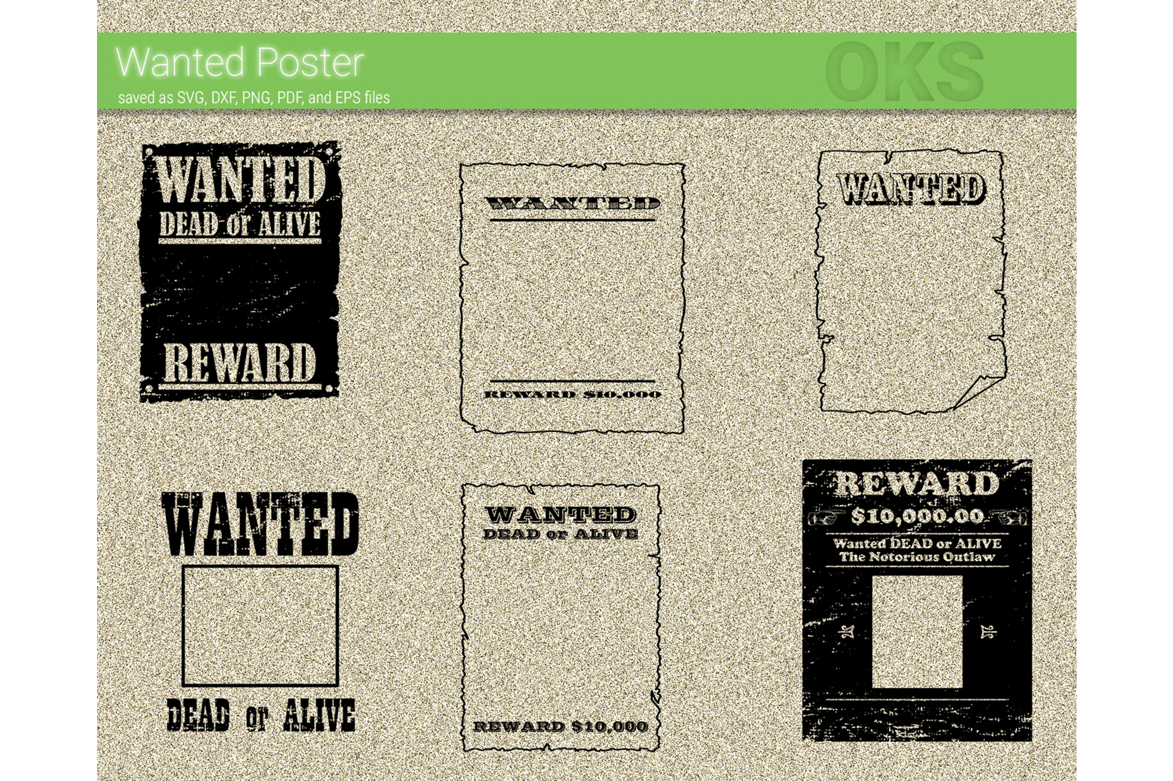 Download Free Wanted Poster Vector Graphic By Crafteroks Creative Fabrica for Cricut Explore, Silhouette and other cutting machines.