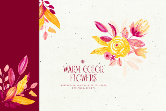 Warm Color Flowers Graphic By webvilla Image 2