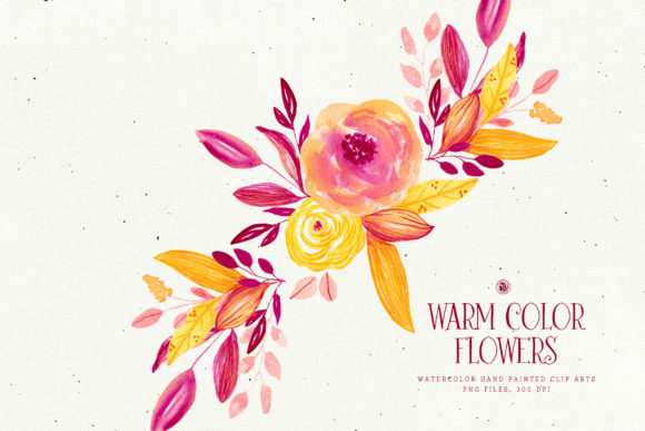 Warm Color Flowers Graphic By webvilla Image 3
