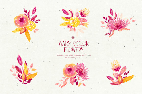 Warm Color Flowers Graphic By webvilla Image 5