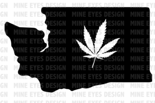 Washington Weed State SVG Graphic By Mine Eyes Design