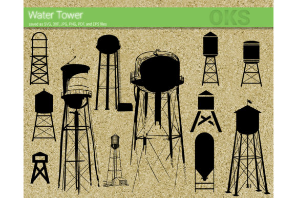 Download Free Water Tower Vector Graphic By Crafteroks Creative Fabrica for Cricut Explore, Silhouette and other cutting machines.