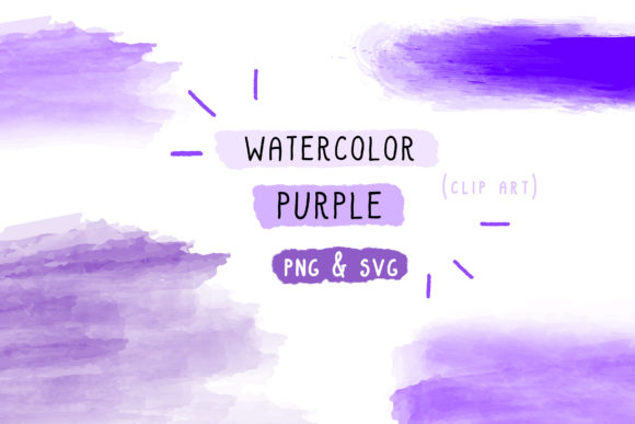 Print on Demand: Watercolor Bundle, Brush Stroke Set Graphic Icons By Inkclouddesign - Image 1