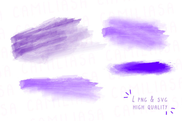Print on Demand: Watercolor Bundle, Brush Stroke Set Graphic Icons By Inkclouddesign - Image 2