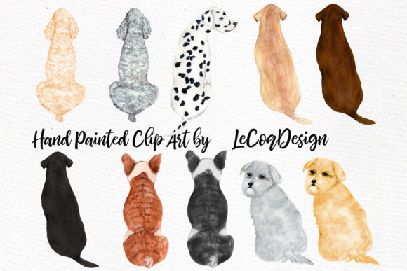 Watercolor Girls with Dogs Clipart Graphic Illustrations By LeCoqDesign - Image 5