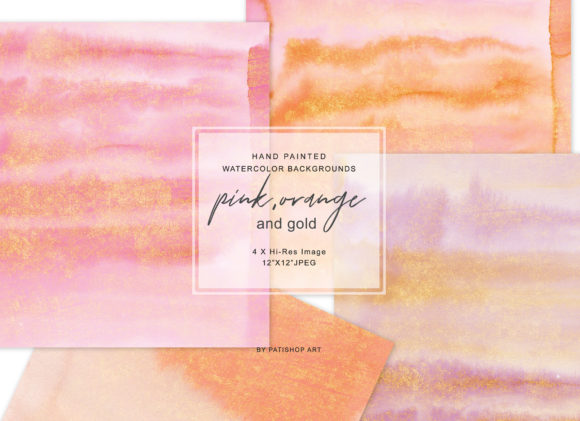 Watercolor Glittered Background Set Graphic Textures By Patishop Art - Image 2