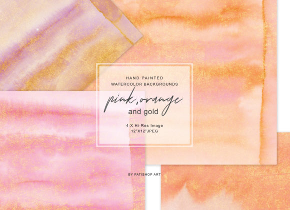 Watercolor Glittered Background Set Graphic Textures By Patishop Art - Image 1