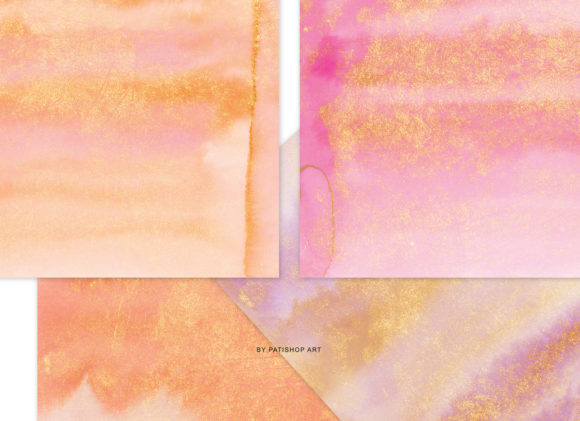 Watercolor Glittered Background Set Graphic Textures By Patishop Art - Image 7