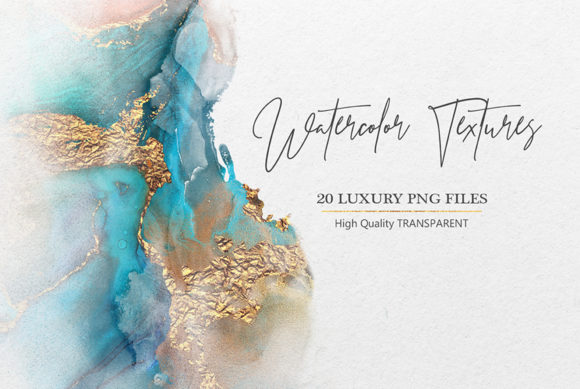 Print on Demand: Watercolor PNG Gold Textures Graphic Textures By Creative Paper