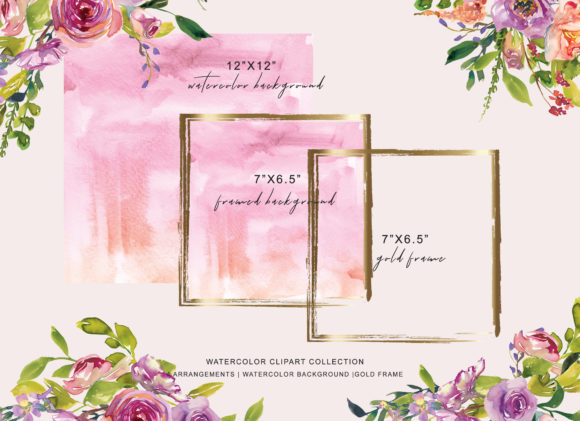 Watercolor Peach Pink Rose Clipart Graphic Illustrations By Patishop Art