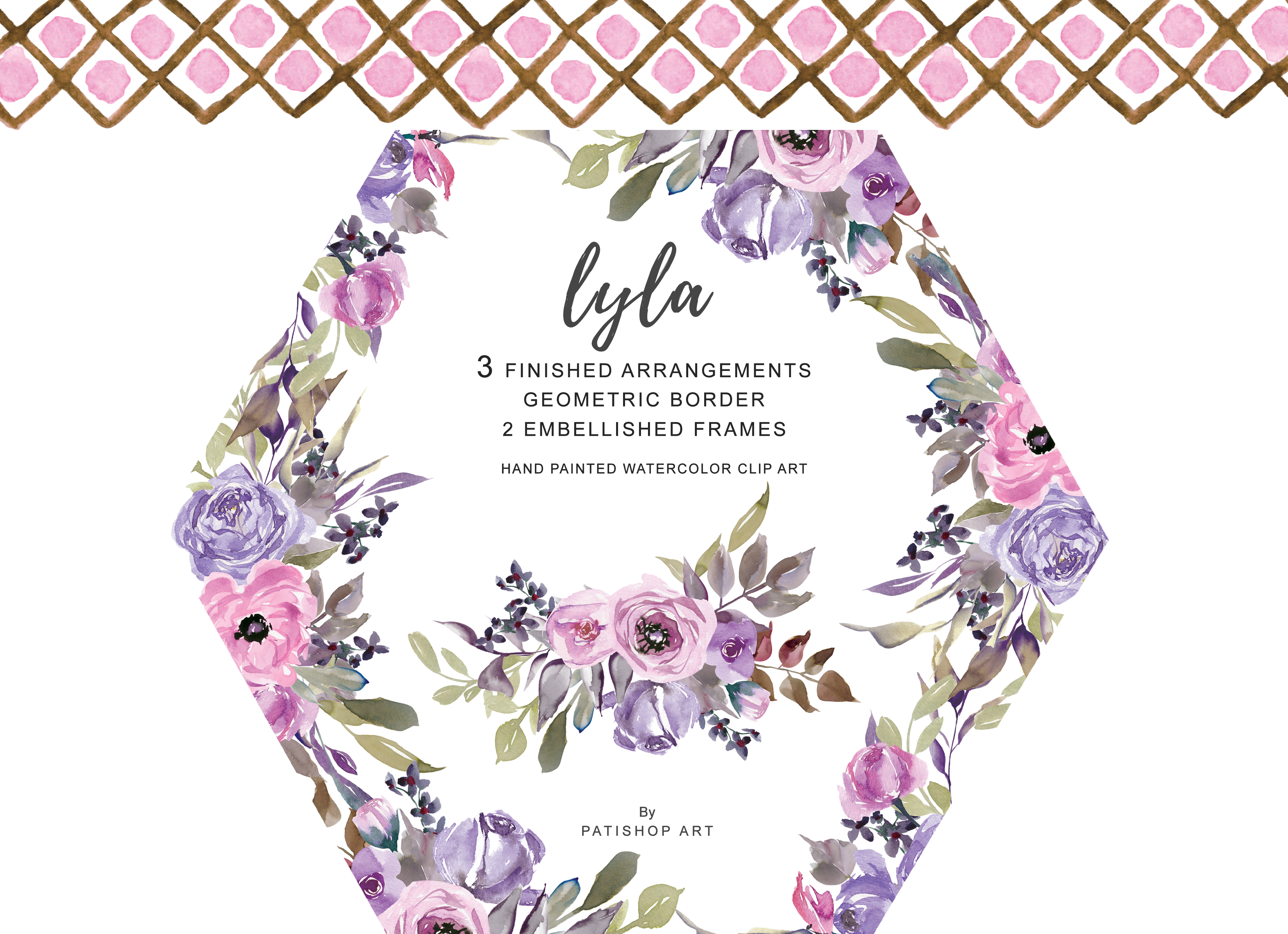 Download Free Watercolor Subtle Pink Flowers Clipart Graphic By Patishop Art Creative Fabrica for Cricut Explore, Silhouette and other cutting machines.