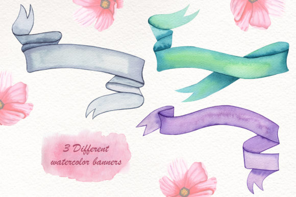 Print on Demand: Watercolor Summer Collection Graphic Illustrations By tanatadesign - Image 4