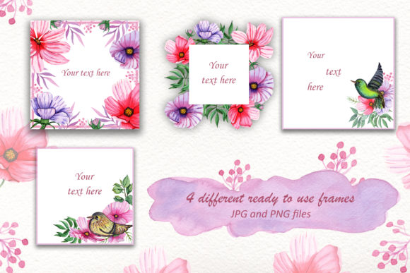 Print on Demand: Watercolor Summer Collection Graphic Illustrations By tanatadesign - Image 5