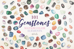Watercolour Clipart Gemstones 101 Gems Graphic By Bloomella