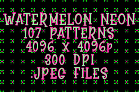 Watermelon Neon Graphic Patterns By vessto