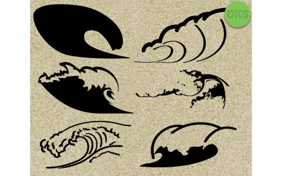 Download Free Waves Vector Clipart Graphic By Crafteroks Creative Fabrica for Cricut Explore, Silhouette and other cutting machines.