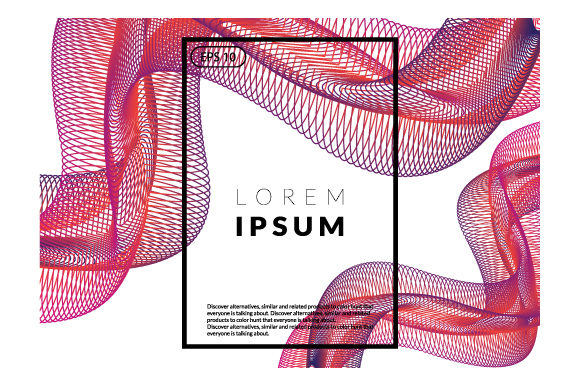 Print on Demand: Wavy Geometric Background Graphic Backgrounds By iop_micro