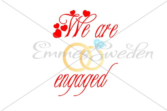 Download Free We Are Engaged Rings Svg Graphic By Emmessweden Creative Fabrica for Cricut Explore, Silhouette and other cutting machines.