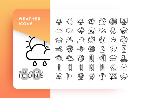 Print on Demand: Weather Icon Packs Graphic Icons By Goodware.Std