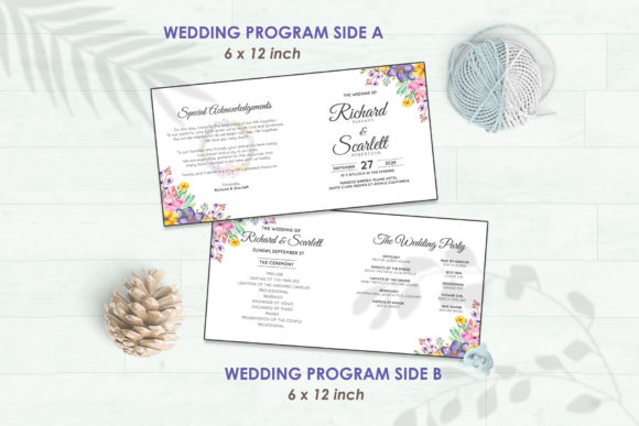 Wedding Invitation Set #1 Floral Style