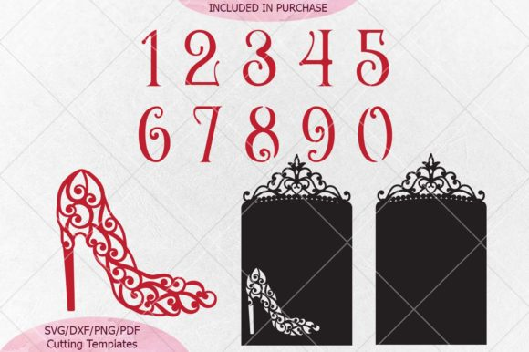 Wedding Table Numbers Svg Dxf Laser Cut