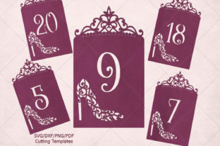 Download Free Wedding Table Numbers Laser Cut Graphic By Cornelia Creative for Cricut Explore, Silhouette and other cutting machines.