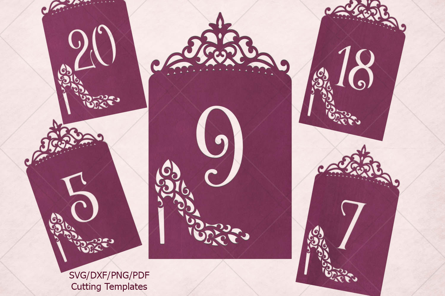 Download Free Wedding Table Numbers Laser Cut Graphic By Cornelia Creative Fabrica for Cricut Explore, Silhouette and other cutting machines.
