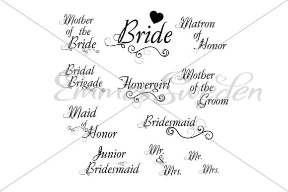 Download Free Wedding Bundle Graphic By Emmessweden Creative Fabrica for Cricut Explore, Silhouette and other cutting machines.