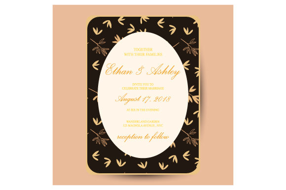 Wedding Invitation  Floral Pattern Graphic By iop_micro