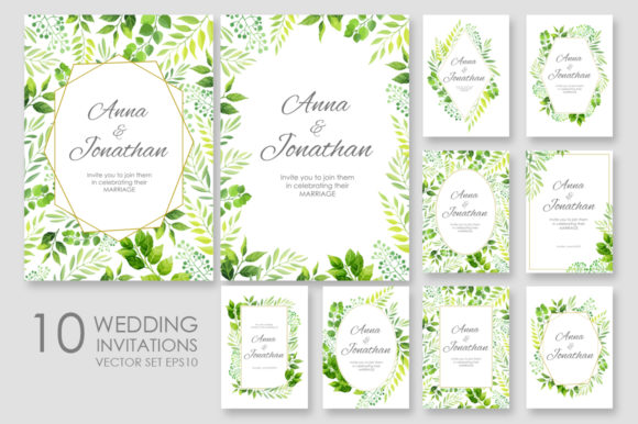 Wedding Invitation Vector Set Graphic By Nata Art Graphic