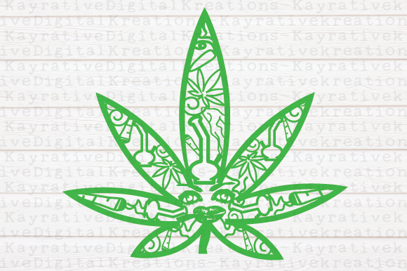 Download Free Weed Zentangle Marijuana Svg Graphic By Kayla Griffin Creative for Cricut Explore, Silhouette and other cutting machines.