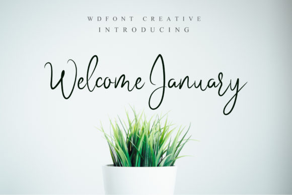 Print on Demand: Welcome January Script & Handwritten Font By wdfont.creative