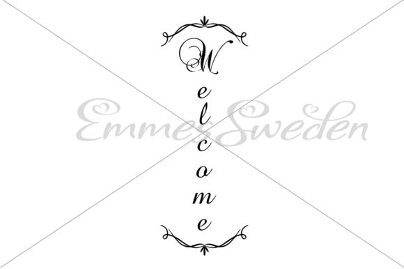 Download Free Welcome Sign Welcome Porch Graphic By Emmessweden Creative for Cricut Explore, Silhouette and other cutting machines.