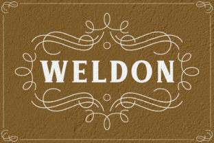 Weldon Font By Keithzo (7NTypes)