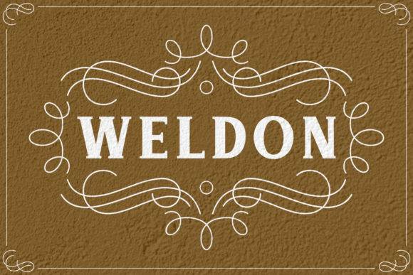 Print on Demand: Weldon Serif Font By Keithzo (7NTypes) - Image 1