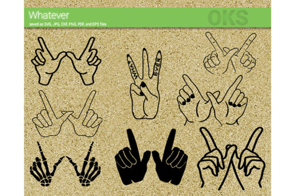 Download Free Whatever Hand Gesture Svg Vector Graphic By Crafteroks for Cricut Explore, Silhouette and other cutting machines.